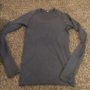 Gray LULULEMON Swift long sleeve Shirt size 4